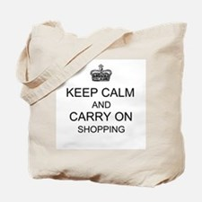 Unique Keep calm and shop Tote Bag