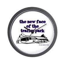 New Face Of The Trailer Park Wall Clock