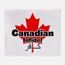 Canadian Infidel Throw Blanket
