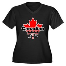 Canadian Infidel Women's Plus Size V-Neck Dark T-S