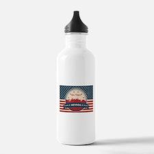 Retro Las Vegas Skylin Water Bottle