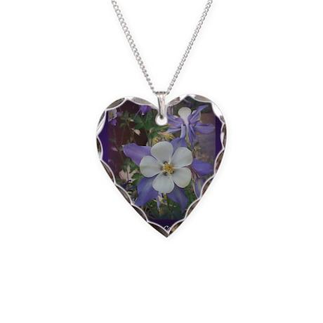 Colorado Columbines - Necklace Heart Charm