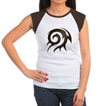 Tribal Twirl Women's Cap Sleeve T-Shirt