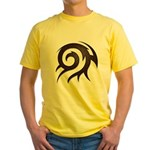 Tribal Twirl Yellow T-Shirt