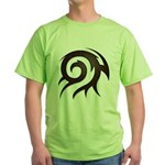 Tribal Twirl Green T-Shirt