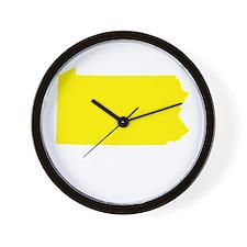 Yellow Pennsylvania Wall Clock