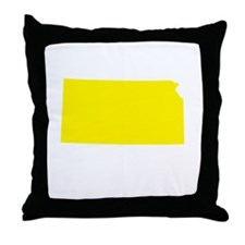Yellow Kansas Throw Pillow