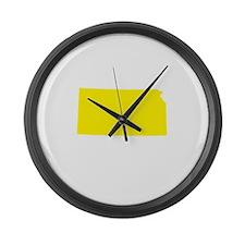 Yellow Kansas Large Wall Clock