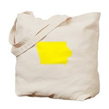 Yellow Iowa Tote Bag