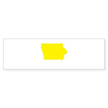 Yellow Iowa Sticker (Bumper)