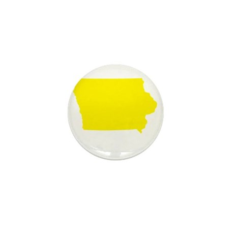 Yellow Iowa Mini Button (10 pack)