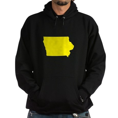 Yellow Iowa Hoodie (dark)