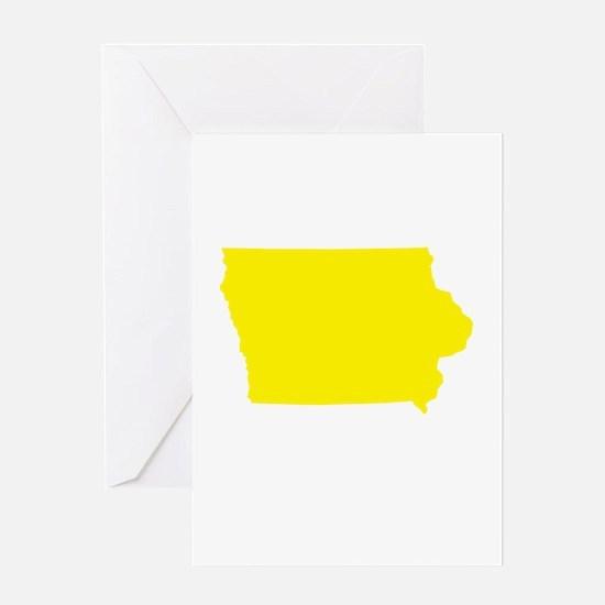Yellow Iowa Greeting Card