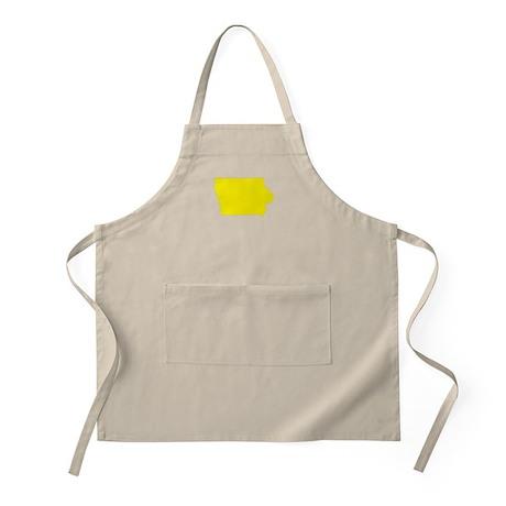 Yellow Iowa Apron