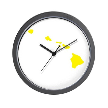 Yellow Hawaii Wall Clock