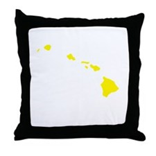 Yellow Hawaii Throw Pillow