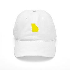 Yellow Georgia Baseball Cap