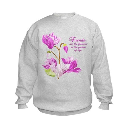 Watercolor Flowers Kids Sweatshirt