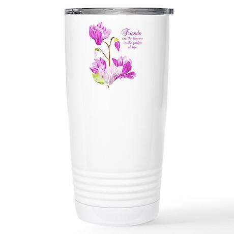 Watercolor Flowers Stainless Steel Travel Mug