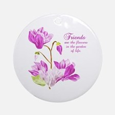 Watercolor Flowers Ornament (Round)