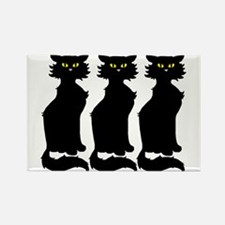 Yellow-Eyed Cats Rectangle Magnet