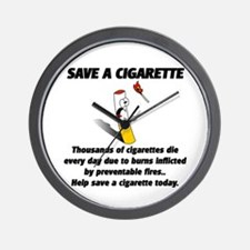 save a cigarette Wall Clock