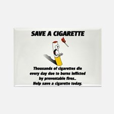 save a cigarette Rectangle Magnet (10 pack)
