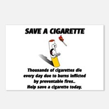 save a cigarette Postcards (Package of 8)