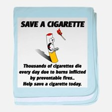 Save a cigarette baby blanket