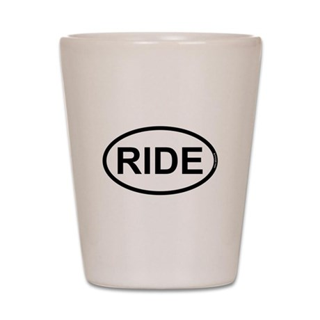 RIDE - Motorcycle/Bicycle Rider Shot Glass