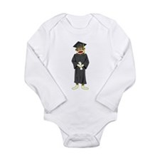 Sock Monkey Graduation Long Sleeve Infant Bodysuit