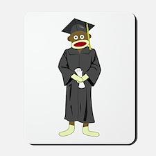 Sock Monkey Graduation Mousepad