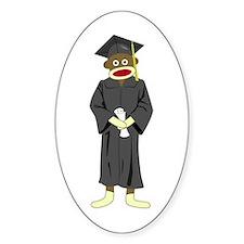 Sock Monkey Graduation Decal