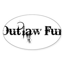 Outlaw Fur Sticker (Oval)