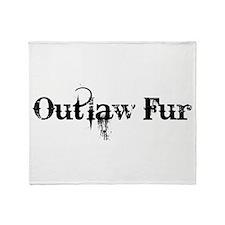 Outlaw Fur Throw Blanket