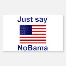 Just say NoBama Sticker (Rectangle)