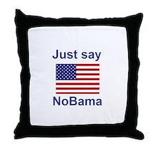 Just say NoBama Throw Pillow