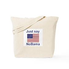 Just say NoBama Tote Bag