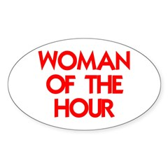 WOMAN OF THE HOUR Decal