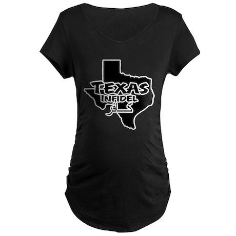 Texas Infidel Maternity Dark T-Shirt