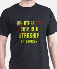 My other ride is a Star Ship T-Shirt