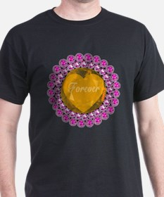 Forever Golden Heart & Pink Diamonds T-Shirt