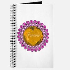 Forever Golden Heart & Pink Diamonds Journal