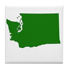 Green Washington Tile Coaster