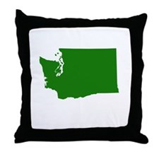 Green Washington Throw Pillow