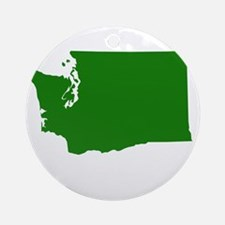 Green Washington Ornament (Round)