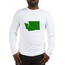 Green Washington Long Sleeve T-Shirt