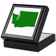 Green Washington Keepsake Box