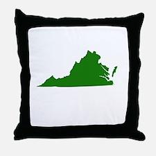 Green Virginia Throw Pillow