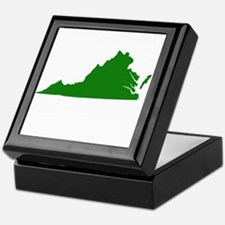 Green Virginia Keepsake Box